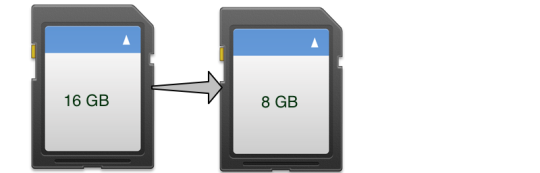 Clone SD Card from a larger size SD Card to a smaller size