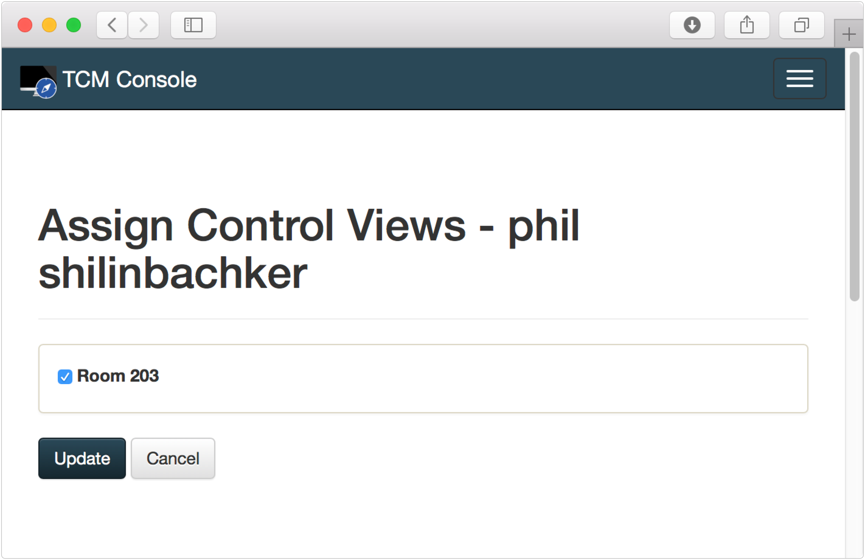 Assigning a Control View