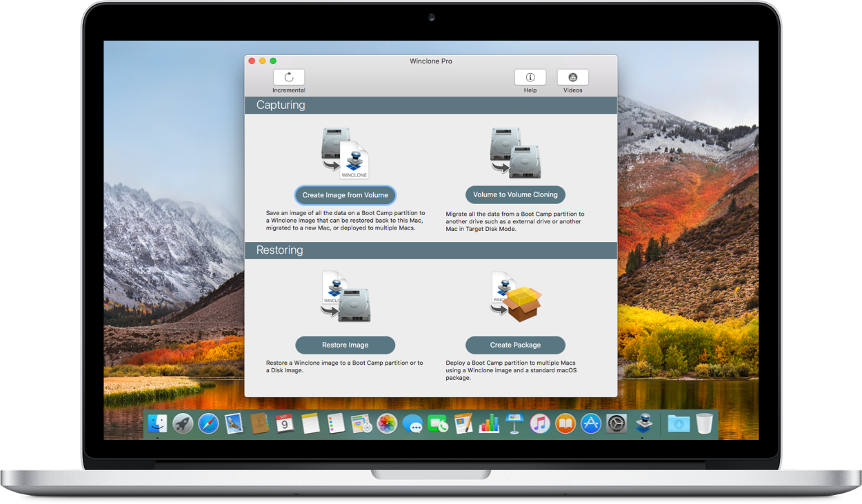 Winclone 7 on Macbook